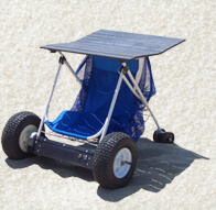 folded Zoom Buggy electric utility beach cart